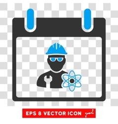Atomic Engineer Calendar Day Eps Icon vector image