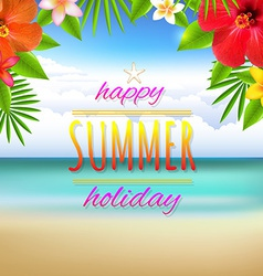 Beach Landscape Card vector image