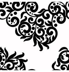 Black and white background lace texture vector