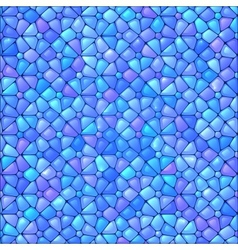 Blue abstract stained glass mosaic background vector