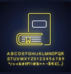 Bookstore neon light icon vector