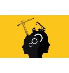 Brain intelligence development concept vector