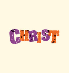 christ concept stamped word art vector image