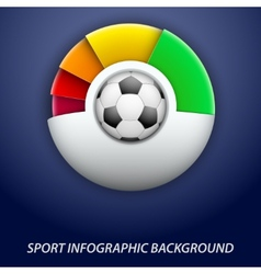 Concept statistics about game soccer vector