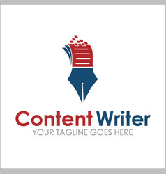 Content writer vector