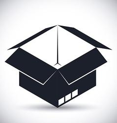 Delivery box design vector image