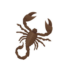 Detailed flat icon of egyptian scorpion vector