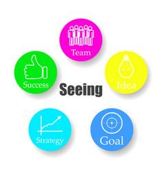 diagram schema buchan team idea purpose strategy vector image