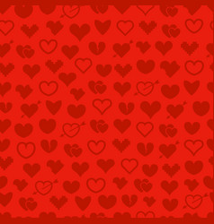 different abstract hearts seamless background vector image