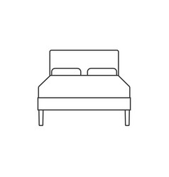 double bed icon flat design vector image