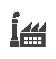 factory icon simple clean factory sign symbol vector image