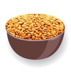 fenugreek in a bowl vector image