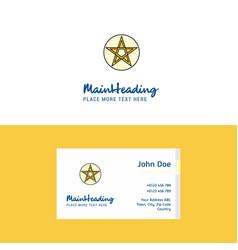 flat star logo and visiting card template vector image