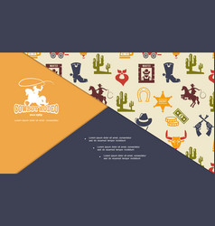 flat wild west composition vector image