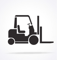 Forklift stencil silhouette vector