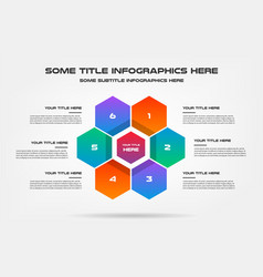 honey infographics with icons element of chart vector image
