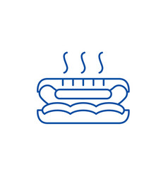 hot dog line icon concept hot dog flat vector image