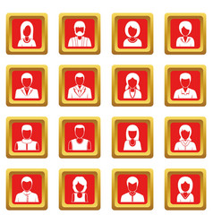infographic design parts icons set red vector image
