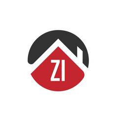 Initial letter zi building logo design template vector