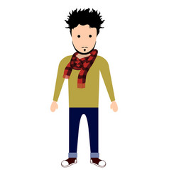 isolated hipster character vector image