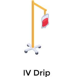 iv drip vector image