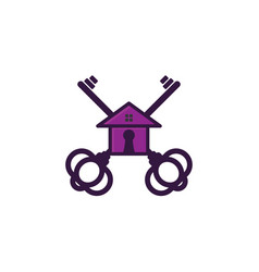 key and house house security logo designs vector image
