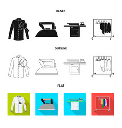 laundry and clean logo set vector image