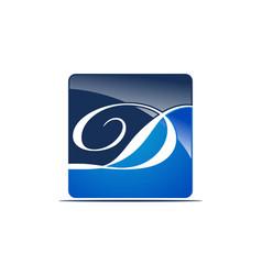 letter d logo design template vector image