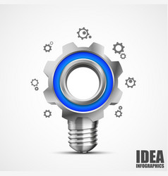 Lighting gear creative idea vector