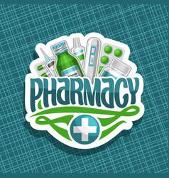 Logo for pharmacy vector
