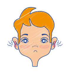 Man with otitis earache illness infection vector