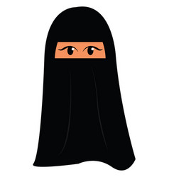 muslim woman with burqa on white background vector image