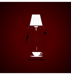 Night coffee vector image