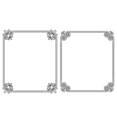 ornamental frames with vintage decor bows elements vector image