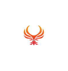 phoenix bird abstract wing logo vector image