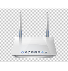 Realistic 3d wireless router isolated on vector