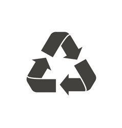 recycle symbol isolated on white background vector image