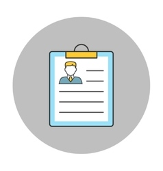 Resume concept line icon vector