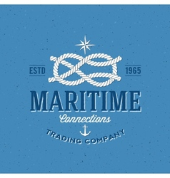 Retro Navy Trading Company Label or Logo vector image