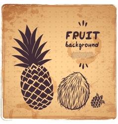 Retro pineapple vector