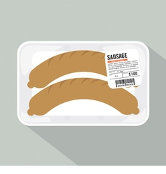Sausage pack sale vector