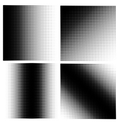 Set of 4 halftones vector image