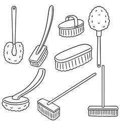 set of toilet brush vector image