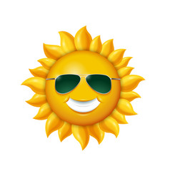 smiling summer sun in sunglasses vector image