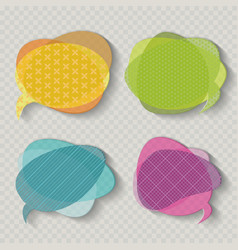 Speech bubbles icons in retro shades on vintage vector