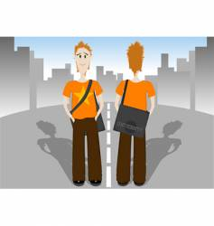 Student with bag vector