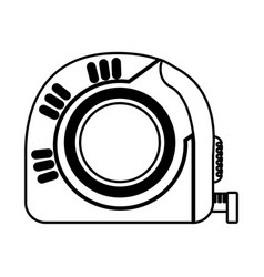 Tape measure tool icon vector