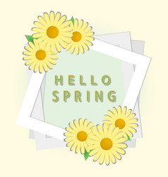 the spring vector image