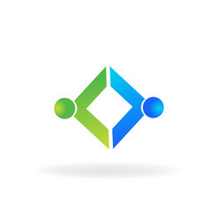 Trading business partner icon vector