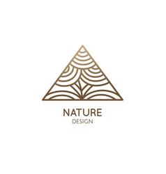 triangular linear logo pattern tree vector image